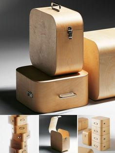 Handmade LP Storage Box at STORE. Harri Koskinen's uber-cool birch LP storage cases are handmade with a polished hasp for. Record Storage Box, Vinyl Storage, Wooden Storage Boxes, Cube Storage, Small Storage, Wood Boxes, Storage Bins, Record Holder, Media Storage