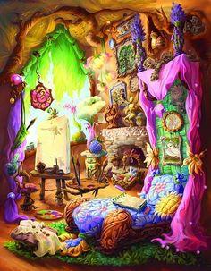The Art Of Disney Fairies, Bess's home