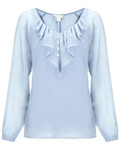 design of blouse Macey Long Sleeve Top Casual Fall Outfits, Trendy Outfits, Casual Dresses, Frock Fashion, Fashion Dresses, Blouse Styles, Blouse Designs, Mode Hijab, Blouse Dress