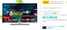 Smart TV LED Android 55'' Philips 55PUG6700/78 Ultra HD 4K com Conversor Digital 3 HDMI 3 USB Wi-Fi 120Hz Dual Core << R$ 299900 >>