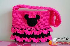 Looking for your next project? You're going to love crochet minnie mouse bag purse  by designer marifu6a. - via @Craftsy