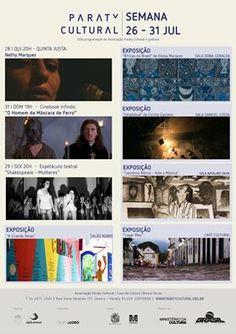 Confira a programação da Casa da Cultura Paraty Cultural desta semana!!  #CasaDaCultura #CasaDaCulturaParaty #exposição #fotografia #música #cultura #turismo #arte #VisiteParaty #TurismoParaty #Paraty #PousadaDoCareca #ParatyCultural #PartiuBrasil #MTur #boatarde #boatardee #boanoite