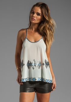 BB DAKOTA Augusta CDC Beaded Top in Dirty White at Revolve Clothing - Free Shipping!