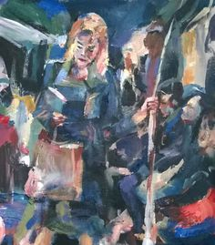 Original Painting, collected artist Samuel Burton Girl reading on the commute Girl Reading, Acrylic Art, Painters, Original Paintings, The Originals, Artist, Ebay, Collection, Artists