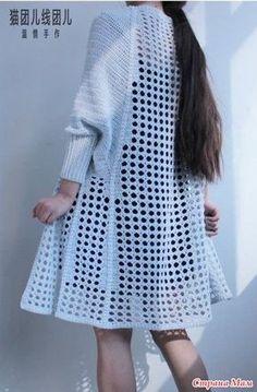 Fabulous Crochet a Little Black Crochet Dress Ideas. Georgeous Crochet a Little Black Crochet Dress Ideas. Crochet Top Outfit, Black Crochet Dress, Crochet Coat, Crochet Cardigan Pattern, Crochet Jacket, Crochet Blouse, Love Crochet, Beautiful Crochet, Crochet Clothes