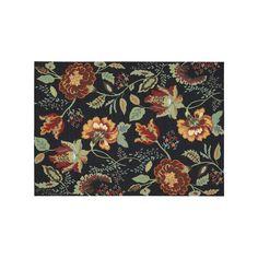 Nourison Vista Floral Rug, Black