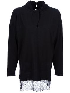 Valentino Lace Hem Sweater - Spk - Farfetch.com