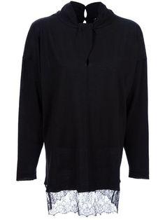 Valentino Lace Hem Sweater - Spk - Farfetch.com