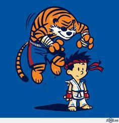 Calvin y Hobbes se mezclan con videojuegos y series