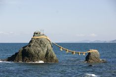 The wedded rocks known as Meoto-iwa are located in Japan near Ise jingu. They represent the two creator gods of the Shinto religion, Izanami and Izanagi. Amaterasu, Weird World Facts, Religion In Japan, History Encyclopedia, Creation Myth, Japanese History, Japanese Culture, Susanoo, Asia