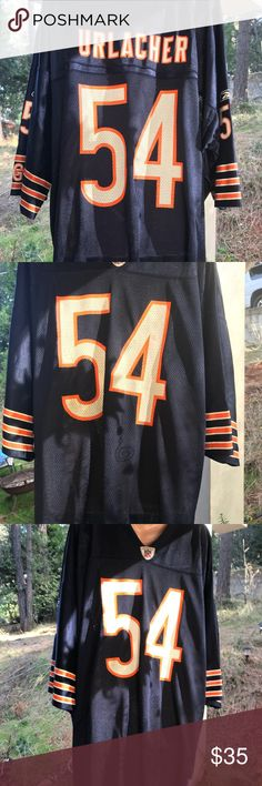Urlacher NFL QUALITY JERSEY. My husband was infatuated with Urlacher's ability. He passed and I need to start healing. So it's got to go. Ask me about my signed Johnny Unitas football. It has two signatures. The second signature is #13 but it was written in black sharpie and is starting to fade. Great Christmas gift for the guy in your life. Comes with case and record of authenticity. NFL Shirts Sweatshirts & Hoodies