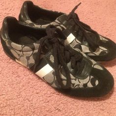 size 7.5 Coach sneakers Black & white Coach sneakers.. only worn a handful of times, good condition Shoes Sneakers
