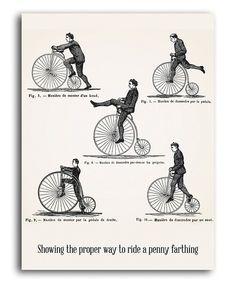 'Penny Farthing' Print
