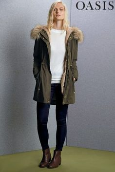Buy Oasis Laura Khaki Parka from the Next UK online shop