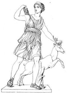 Athena and Arachne illustration by Edouard Sandoz from