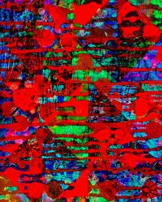 Abstract 8 x 10 Mosaic Drips Red Blue Green Maroon Black Green Picture Wall Art Photograph Photo Glowing Mesmerizing Vibrant Colorful by Concepts2Canvas on Etsy