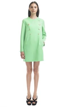 Mint green car coat