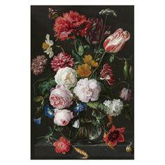 Bloemen in vaas van Jan Davidsz De Heem 100x150 – Canvas Schilderij | Jouw stijl in huis meubels & woonaccessoires