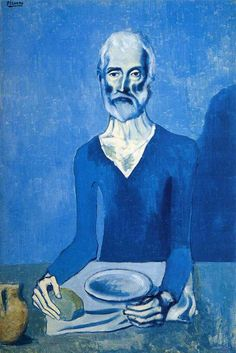 Ascet. 1903. Blue Period. oil on canvas - Pablo Picasso - WikiArt.org