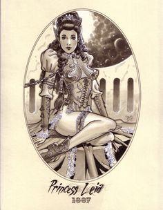 Steampunk Princess Leia 1887