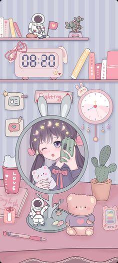 Cocoppa Wallpaper, Iphone Wallpaper Kawaii, Cute Anime Girl Wallpaper, Cute Pastel Wallpaper, Soft Wallpaper, Anime Scenery Wallpaper, Cute Patterns Wallpaper, Bear Wallpaper, Cute Wallpaper Backgrounds
