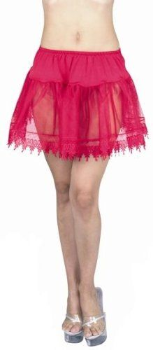 Red Sexy Adult Petticoat Slip Skirt Womens Plus Size « Clothing Impulse