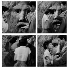 ROME: Roman Holiday with Audrey Hepburn and Gregory Peck. The Mouth of Truth is located in the portico of the sixth-century church of Santa Maria in Cosmedin, in the Piazza Bocca della Verita. Hollywood Stars, Classic Hollywood, Old Hollywood, Marilyn Monroe, Lauren Bacall, Cary Grant, Old Movies, Vintage Movies, Love Movie