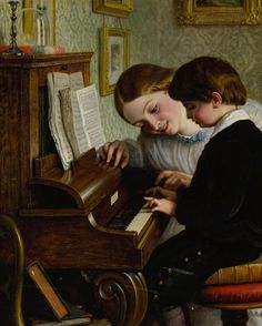 Charles West Cope, R.A. THE FIRST MUSIC LESSON