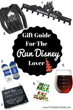 Run Disney Tips: 2016 Holiday Gift Guide for the Run Disney Lover.  Treat them to something they'll love to receive this Christmas season. (aff)