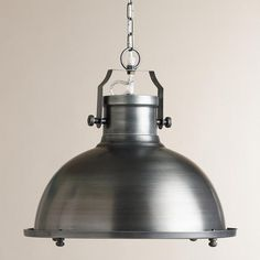 One of my favorite discoveries at WorldMarket.com: Nautical Metal Hanging Pendant Lamp