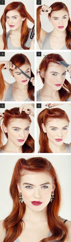 7 Easy Retro Hair Tutorials from Pinterest...x