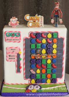Candy Crush Saga Cake! Candy Crush Cakes, Candy Crush Saga, Torta Candy, Candy App, Motorbike Cake, Video Game Characters, Mom Birthday, Things That Bounce, Crushes