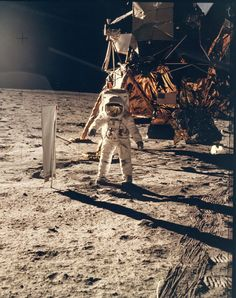 Neil Armstrong - Portrait of Buzz Aldrin on the Moon, Apollo 11, July 1969