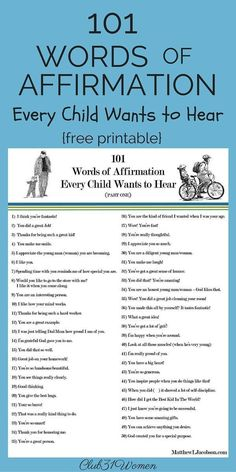 Do you recognize the need to build up your children every day, too? This list of phrases will encourage the child who hears them from a sincere parent. There are so many voices in this world telling our kids they dont measure up. Behind every young ch