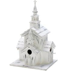 Birdhouses  Country Chapel Bird House Outdoor Living ** This is an Amazon Associate's Pin. Locate the item on the website simply by clicking the image.