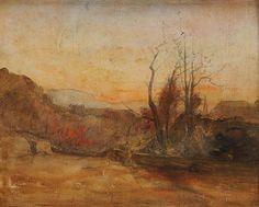 Forêt au Crépuscule, aquarelle et crayon, 23,3 x 28,4 cm, collection particulièr.