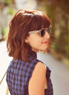12. Bob Hairstyles with Bangs