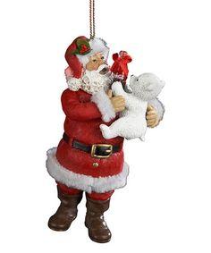 Love this Coca-Cola Santa & Polar Bear Ornament on #zulily! #zulilyfinds