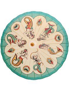 The Dance of the Mermaids Parasol $32.00 AT vintagedancer.com