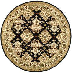 Nessa Black Oriental Wool Hand-Tufted Area Rug