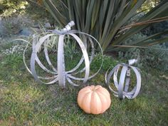 Halloween Pumpkin Giant for Fall from by PurpleThumbNotions, $65.00