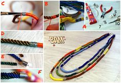 Tutorial - boho necklace #tutorial #diy #handmade #necklace #boho #jewellery #jewelry