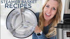 3 EASY Instant Pot Steamer Basket Recipes - Pressure Cooker Recipes Pressure Cooker Times, Pressure Cooker Recipes, Power Cooker Xl, Instant Pot Veggies, Steak And Mashed Potatoes, Instant Pot Steam, Potato Gravy, Salisbury Steak Recipes, Steam Veggies