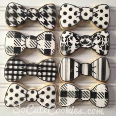 So Cute Cookies: black & white bowties