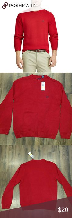 NWT Chaps mens red sweater Red. Men's size M. Chaps Sweaters Crewneck