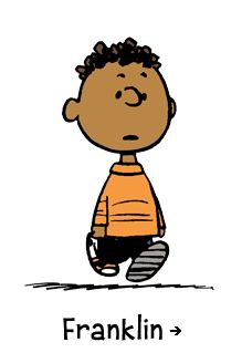 Peanuts, Franklin - Charlie Brown's quiet friend and confidant, Franklin might be the only one who never has an unkind word about our hapless hero. At school, Franklin sits one seat ahead of Peppermint Patty, which makes his school days that much more unbearable.