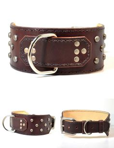 THE CLASSIC MASTINO Collar Handmade Leather Dog Collar  Made to Order Free Shipping. $129.95, via Etsy.