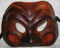 Leather Masquerade Mask of Arlechinno, superb commedia dell'arte mask