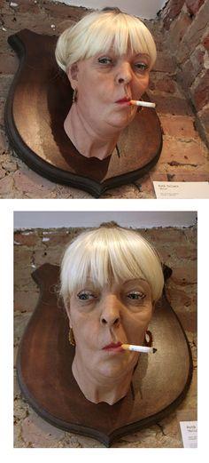 Hyper realiste trophée sculptures -Blog Graphiste / Sculptures, photos, Ver & Vie….
