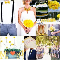 Marrying and color! Yellow is an outstanding color to combine with your wedding dress!